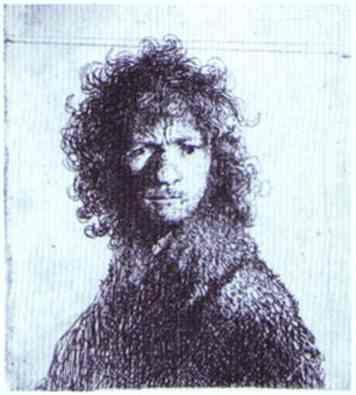 Rembrandt. Self-Portrait with Knitted  Brows.