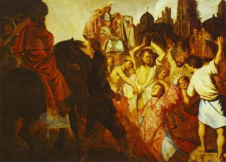 Rembrandt. The Martyrdom of St. Stephen.