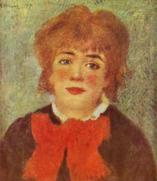 Pierre-Auguste Renoir. Portrait of the Actress  Jeanne Samary.