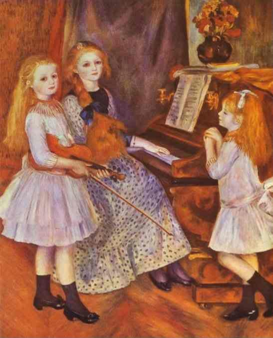 Pierre-Auguste Renoir. The Daughters of Catulle  Mendés.