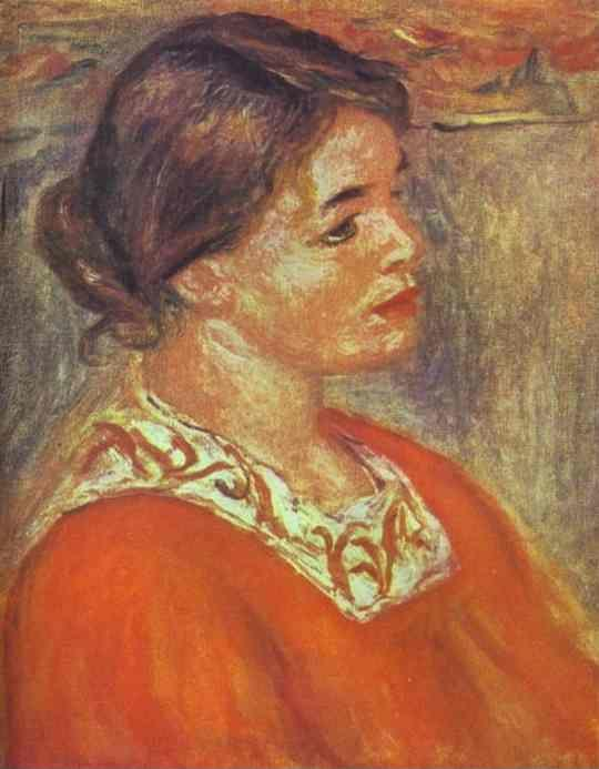 Pierre-Auguste Renoir. Woman in a Red Blouse.