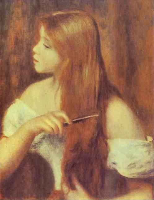 Pierre-Auguste Renoir. Young Girl Combing  Her Hair.