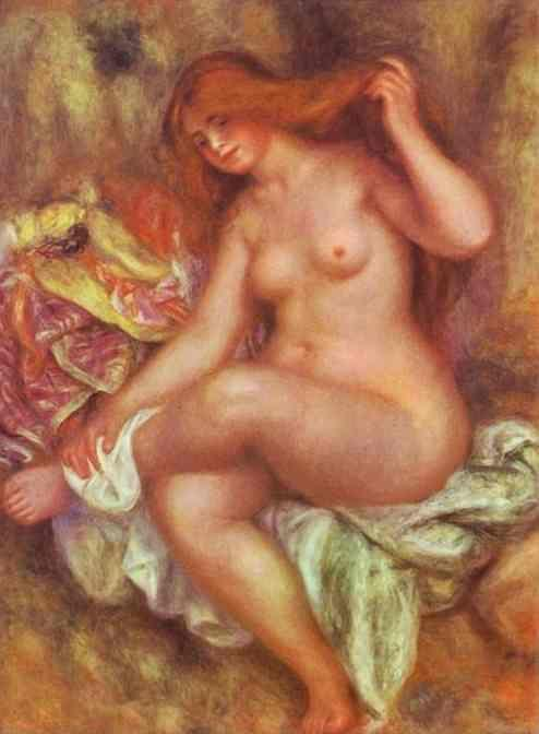Pierre-Auguste Renoir. A Seating Bather.