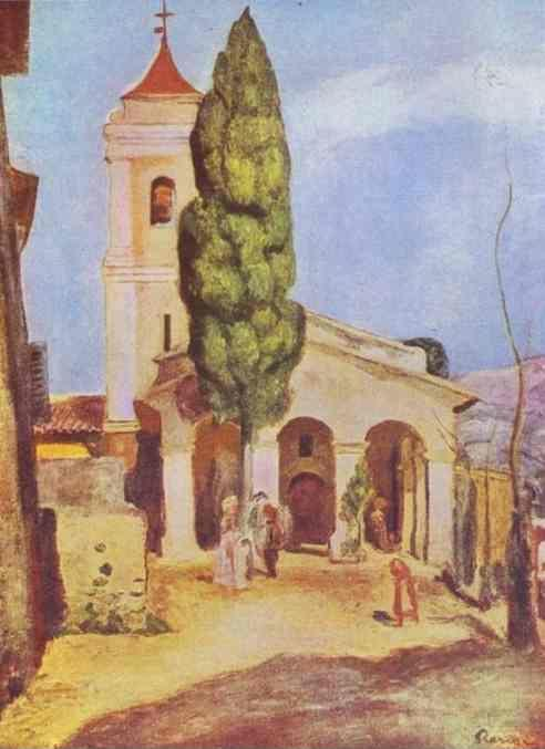 Pierre-Auguste Renoir. A Church at Cagnes.