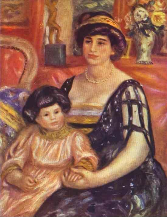 Pierre-Auguste Renoir. Portrait of Madame  Duberville with Her Son Henri.