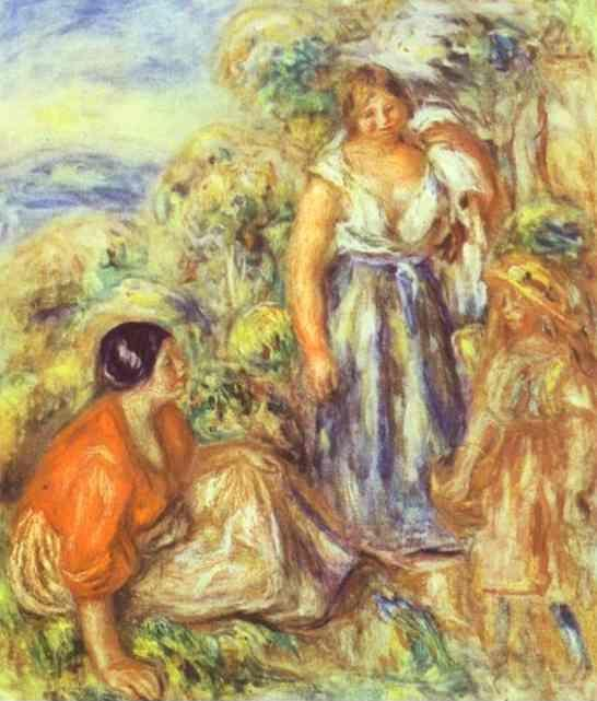 Pierre-Auguste Renoir. Two Women and a Child.