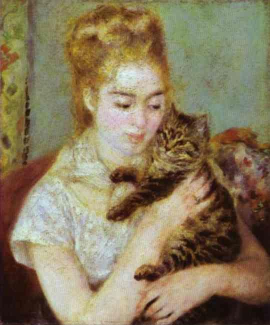 Pierre Auguste Renoir Woman With A Cat