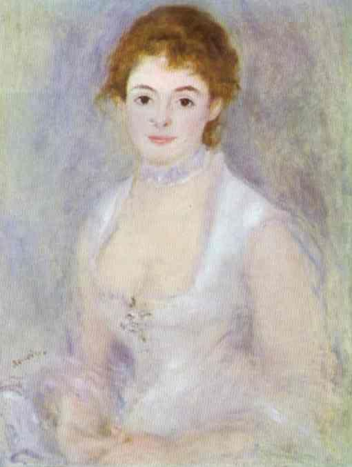 Pierre-Auguste Renoir. Portrait of Madame  Henriot.