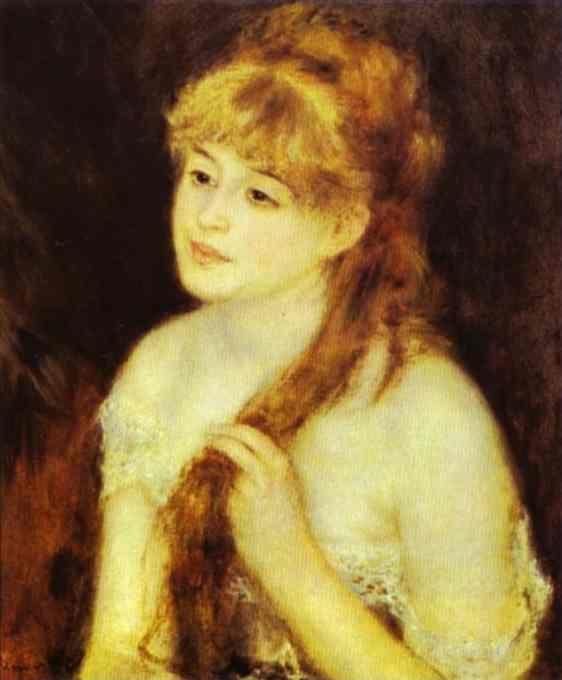 Pierre-Auguste Renoir. Young Woman Braiding  Her Hair.