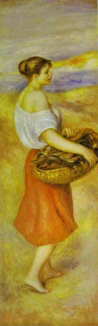 Pierre-Auguste Renoir. Girl with a Basket  of Fish.