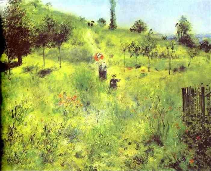 Pierre-Auguste Renoir. Country Footpath in  the Summer.