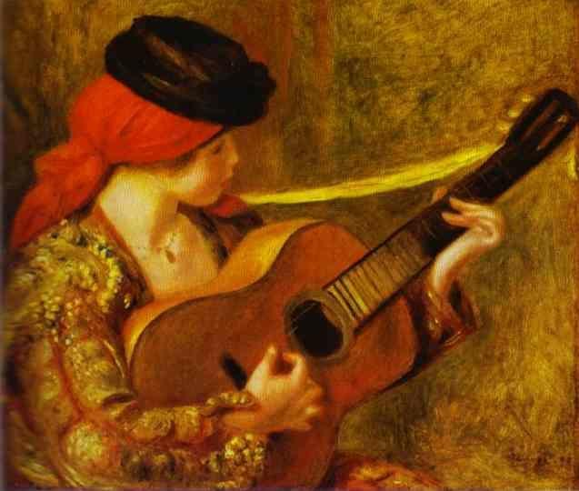 Pierre-Auguste Renoir. Young Spanish Woman  with a Guitar.