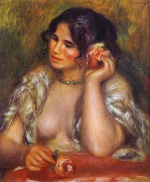 Pierre-Auguste Renoir. Gabrielle with a Rose.
