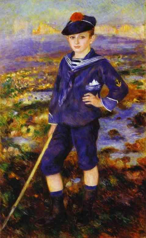 Pierre-Auguste Renoir. Young Boy on the Beach  of Yport (Robert Nunès).