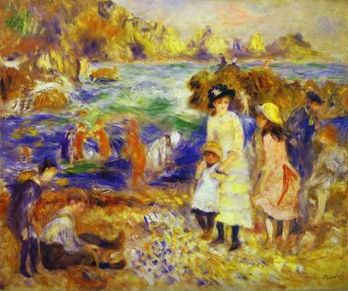 Pierre-Auguste Renoir. Children on the Beach  of Guernesey.