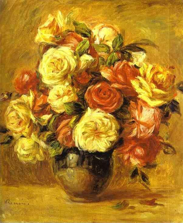 Pierre-Auguste Renoir. Bouquet of Roses (Bouquet  de roses).