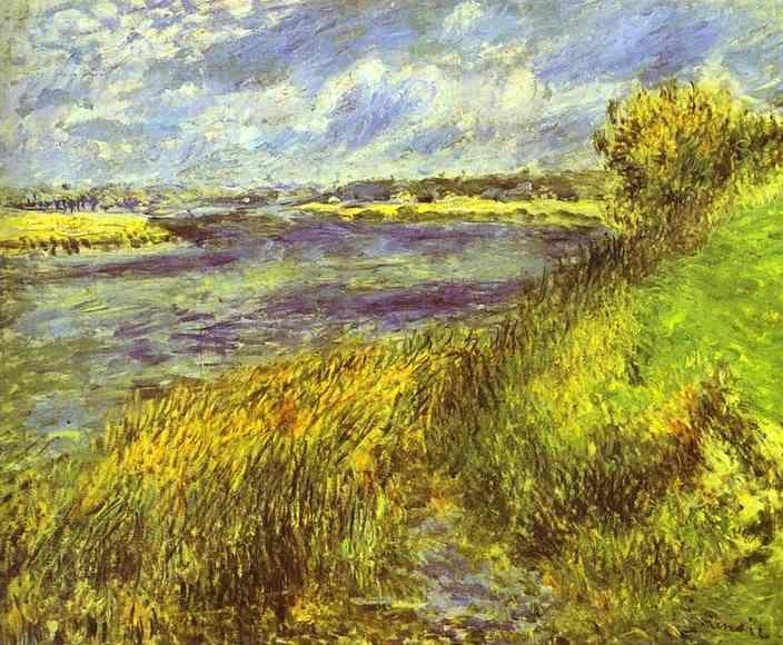 Pierre-Auguste Renoir. Banks of the Seine  at Champrosay.