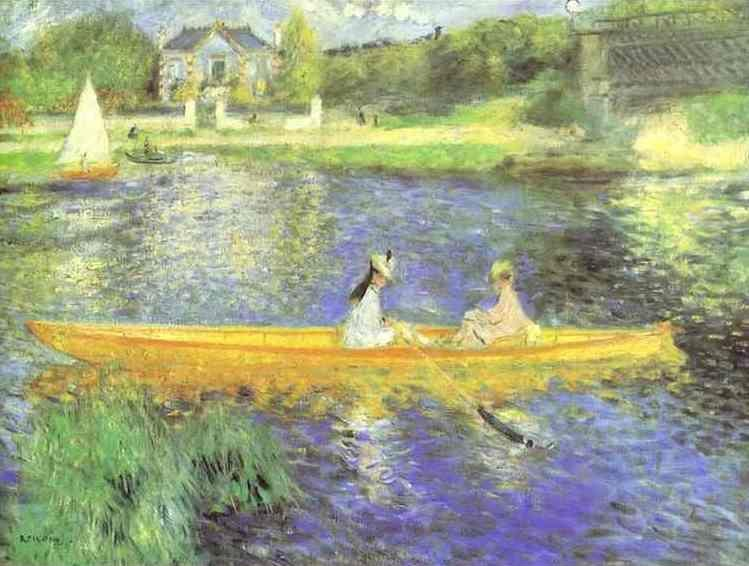 Pierre-Auguste Renoir. Banks of the Seine  at Asnieres.