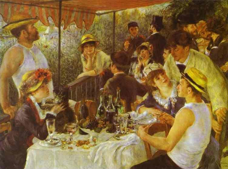 Pierre-Auguste Renoir. The Luncheon of the  Boating Party.