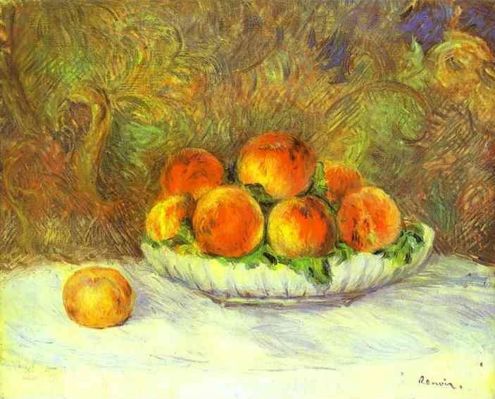 Pierre-Auguste Renoir. Still Life with Peaches.