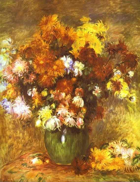 Pierre-Auguste Renoir. Bouquet of Chrysanthemums.