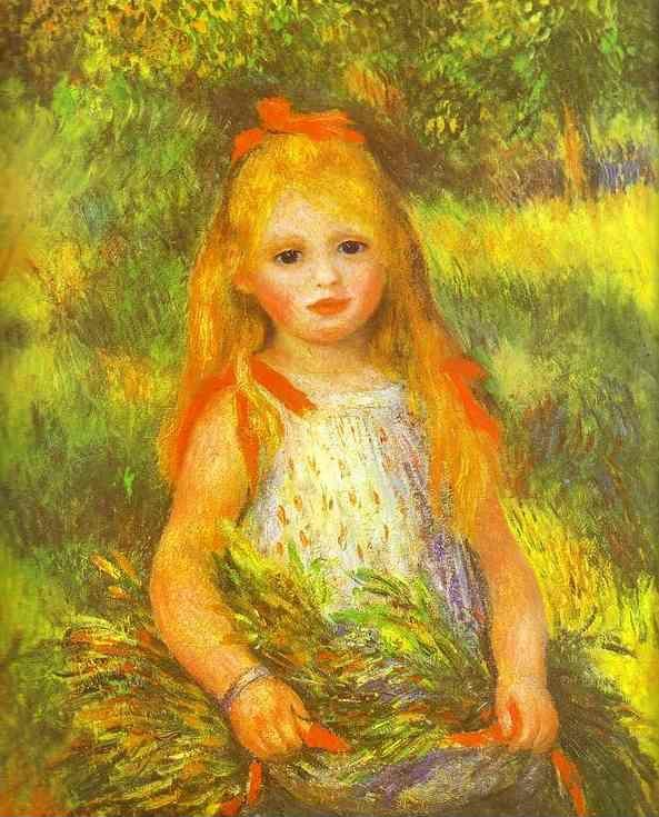 Pierre-Auguste Renoir. Little Girl Gleaning.