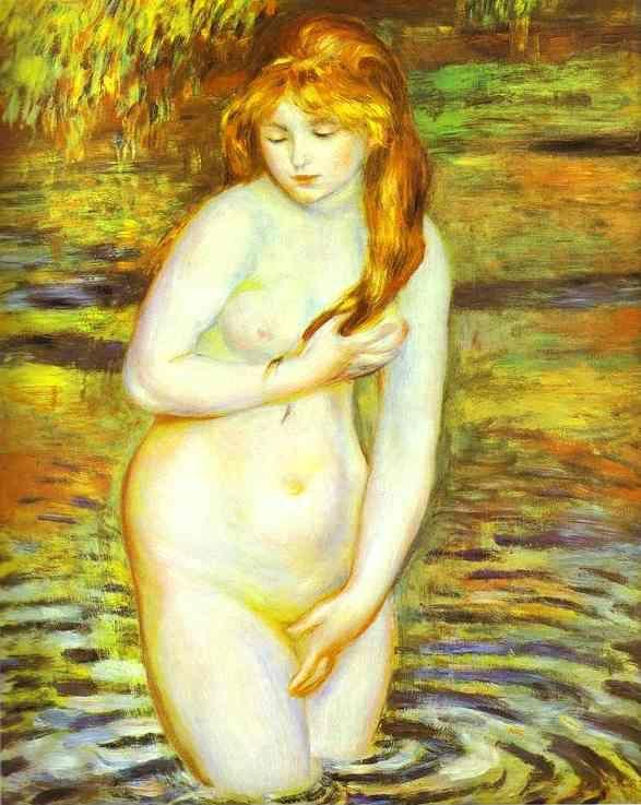 Pierre-Auguste Renoir. The Bather (After  the Bath).