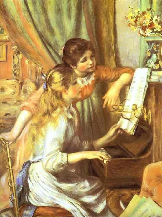 Pierre-Auguste Renoir. Girls at the Piano.