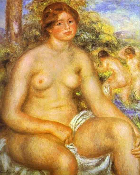 Pierre-Auguste Renoir. Seated Bather.