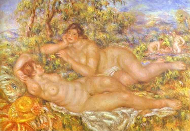 Pierre-Auguste Renoir. The Great Bathers  (The Nymphs).