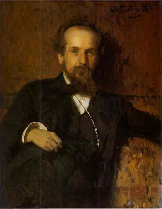 Ilya Repin. Portrait of the Artist  Pavel Tchistyakov.