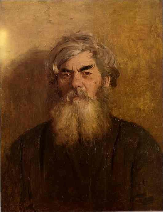 Ilya Repin. A Peasant with an Evil  Eye.