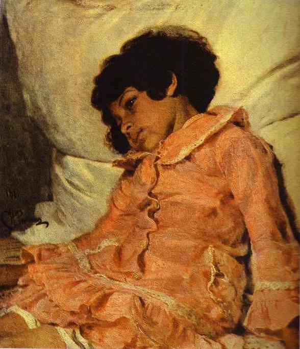 Ilya Repin. Portrait of Nadya Repina,  the Artist's Daughter.