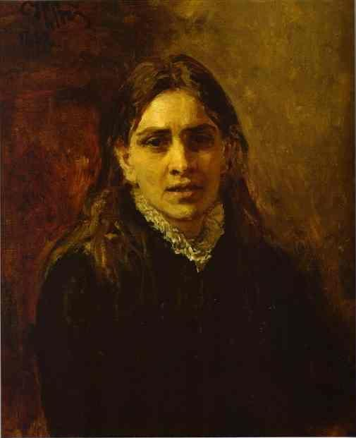 Ilya Repin. Portrait of the Actress  Pelageya Strepetova.