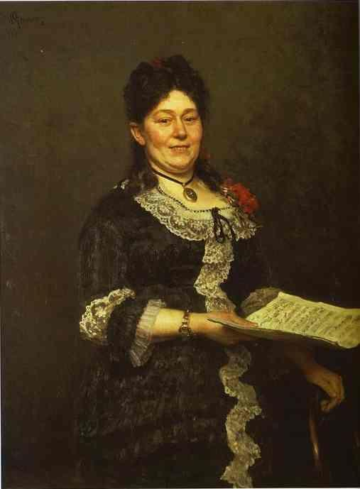 Ilya Repin. Portrait of the Singer  Alexandra Molas.
