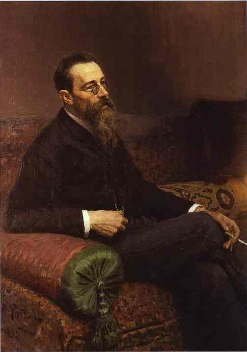Ilya Repin. Portrait of the Composer  Nikolay Rymsky-Korsakov.