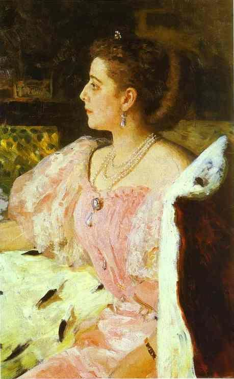 Ilya Repin. Portrait of Countess Natalia  Golovina.