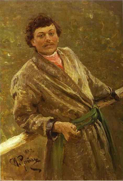 Ilya Repin. A Belorussian. Portrait  of Sidor Shavrov.
