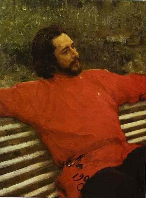 Ilya Repin. Portrait of the Author  Leonid Andreev.