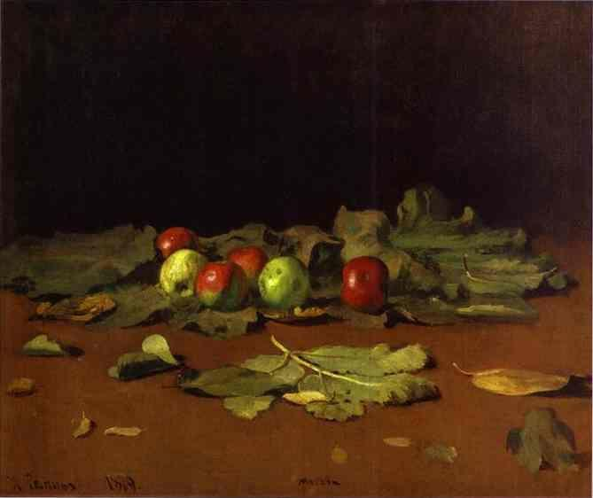 Ilya Repin. Apples and Leaves.
