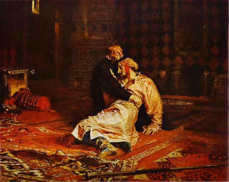 Ilya Repin. Ivan the Terrible and  His Son Ivan on November 16, 1581.