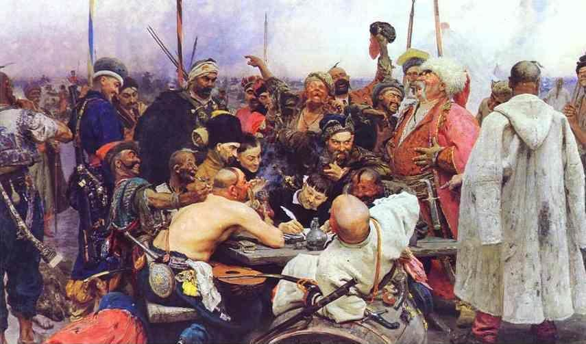 Ilya Repin. The Reply of the Zaporozhian  Cossacks to Sultan Mahmoud IV.