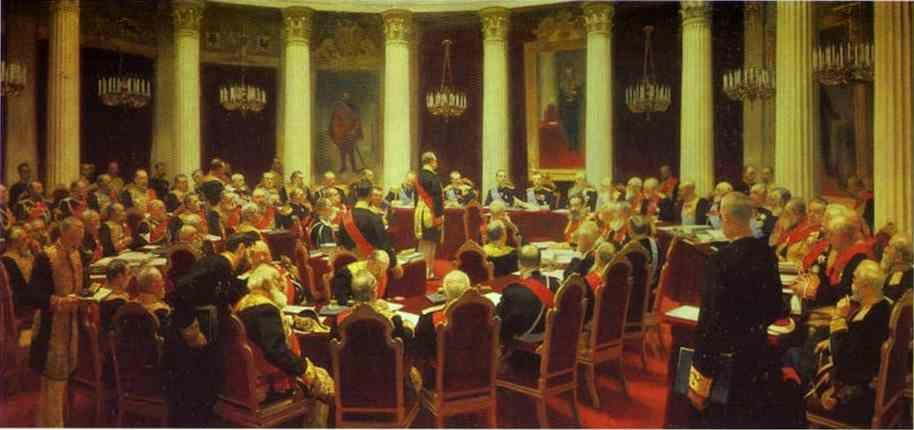 Ilya Repin. Ceremonial Meeting of  the State Council.