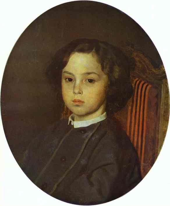 Ilya Repin. Portrait of a Boy.