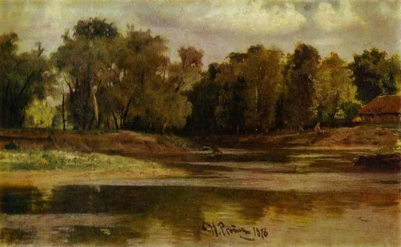 Ilya Repin. River Bank.