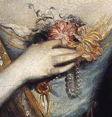 Sir Joshua Reynolds. Anne Dashwood. Detail.