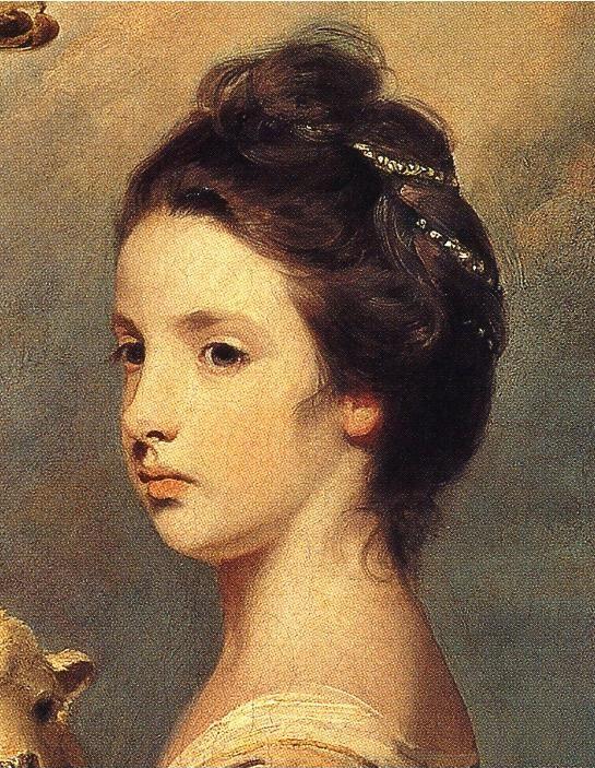 Sir Joshua Reynolds. Lady Mary Leslie. Detail.