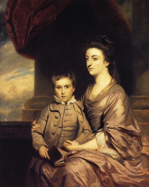 Sir Joshua Reynolds. Elizabeth, Countess  of Pembroke and Her Son.