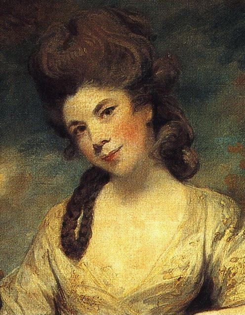 Sir Joshua Reynolds. Mrs Abington. Detail.