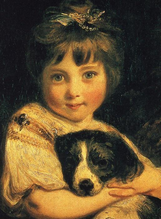 Sir Joshua Reynolds. Miss Bowles. Detail.